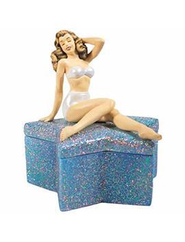 Wl Ss Wl 19908, Crystal Star Jewelry Trinket Box With Swimsuit Marilyn Monroe Figurine by Wl