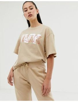 Ivy Park Layer Logo T Shirt In Beige by Ivy Park