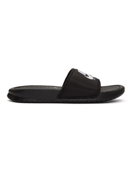 Black Benassi Just Do It Sandals by Nike