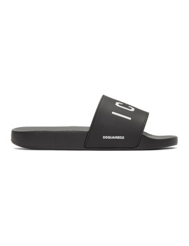 Black Dune 'icon' Slides by Dsquared2