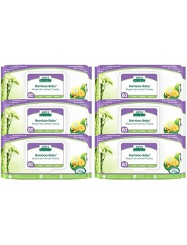 Aleva Naturals Bamboo Baby Wipes 5+1 Pack by Well