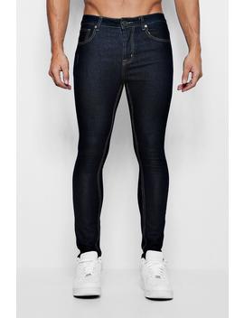 Super Skinny Indigo Denim Jeans by Boohoo
