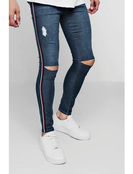 Spray On Skinny Fit Ripped Knee Jeans by Boohoo