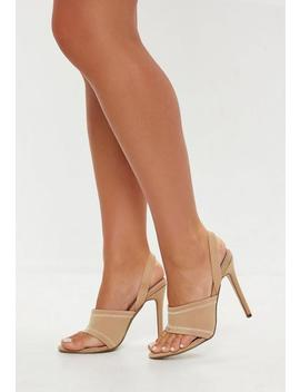 Sporty Toe Post Sling Back Heels by Missguided