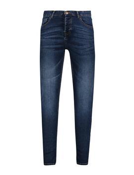Spray On Skinny Jeans In Dark Blue Wash by Boohoo