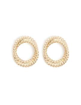 Twisted Spiral Stud Earrings by Forever 21