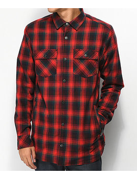 Dravus Philly Sherpa Red Flannel Shirt by Dravus