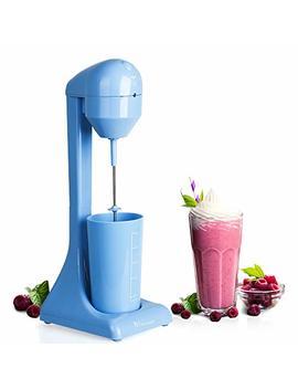 Myonaz Electric Milkshake Maker With 18 Ounce Cup 2 Speed Switch Milk Shaker For Ice Cream Mango Bliss Plastic Drink Mixer 120 V (Blue) by Myonaz