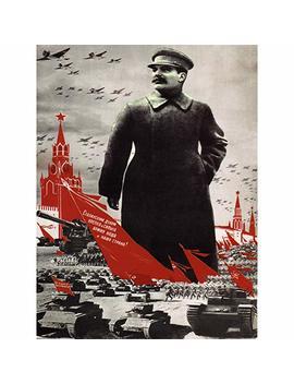 Bumblebeaver Political Propaganda Army Stalin Kremlin Soviet Union Vintage Poster Art 882 Py by Bumblebeaver