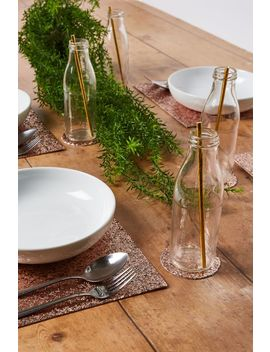 Glitter Table Mat & Coaster 4 Pk by Cotton On