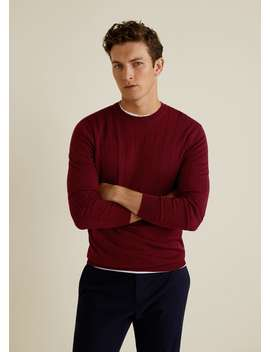 Structured 100 Percents Wool Sweater by Mango