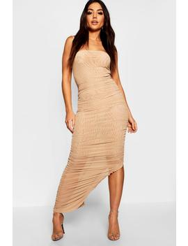Ruched Front Detail Maxi Dress by Boohoo
