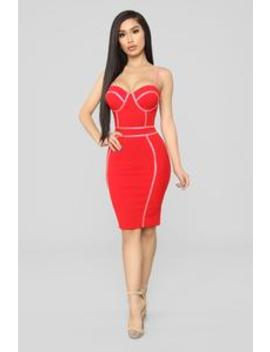 My Love For You Dress   Red/Pink by Fashion Nova