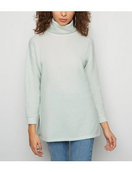 Mint Green Roll Neck Oversized Jumper by New Look