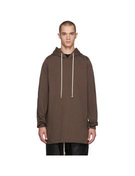 Brown T Shirt Hoodie by Rick Owens