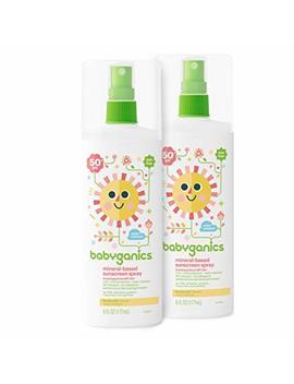 Babyganics Baby Sunscreen Spray, Spf 50, 6oz Spray Bottle (Pack Of 2) by Babyganics