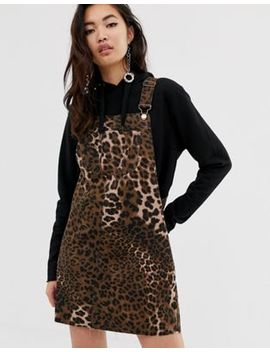 River Island Yara Overall Dress In Animal by River Island