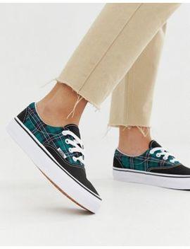 Vans Era Green Plaid Check Sneakers by Vans