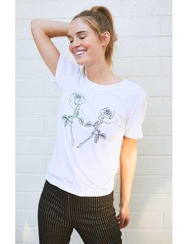 Ps / La Rose Illustration T Shirt by Pacsun