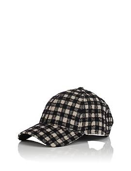 Plaid Virgin Wool Blend Baseball Cap by New Era Xo Barneys New York