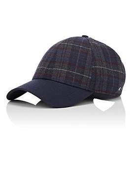 Plaid Herringbone Wool Blend Baseball Hat by New Era Xo Barneys New York