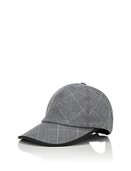 Check Print Wool Baseball Cap by Kaminski