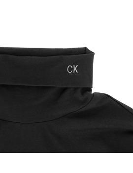 Turtleneck Long Sleeves T Shirt Chalk Black by Calvin Klein Est.1978