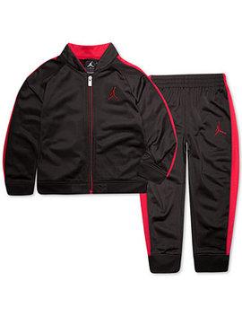 Toddler Boys 2 Pc. Legacy Tricot Jacket & Pants Set by Jordan