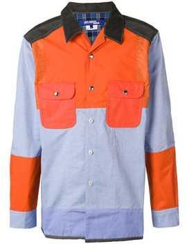 Patchwork Shirt Jacket by Junya Watanabe Man