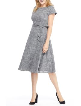 Barbara Yarn Dyed Boat Neck Dress by Gal Meets Glam Collection