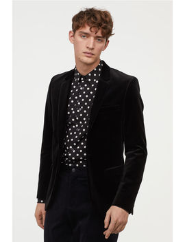 Slim Fit Velvet Blazer by H&M