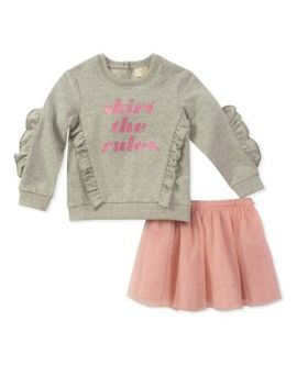 Baby Girl's Two Piece Skirt Rules Set by Kate Spade New York
