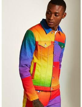 Rainbow Denim Jacket by Topman