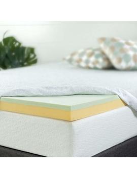 Zinus 3 Inch Green Tea Memory Foam Mattress Topper, Queen by Zinus