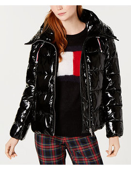 Shiny Puffer Coat, Created For Macy's by Tommy Hilfiger