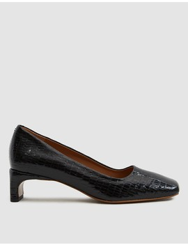 Agatha Lizard Embossed Heel by By Far Shoes