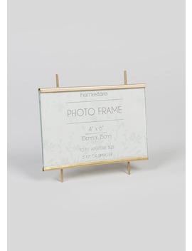 Metal Standing Photo Frame (15cm X 14cm X 6cm) by Matalan
