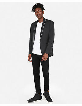Slim Piped Tuxedo Jacket by Express
