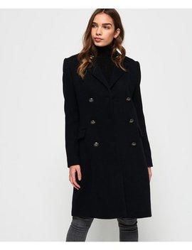 Duchess Long Wool Coat by Superdry