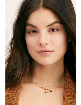 Jonesy Wood Initial Pendant by Free People