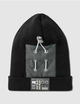 zip-pocket-patch-beanie by  ------------c2h4-los-angeles --------