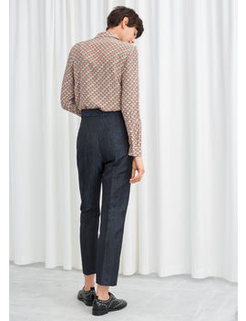 Wood Jacquard Kick Flare Trousers by & Other Stories