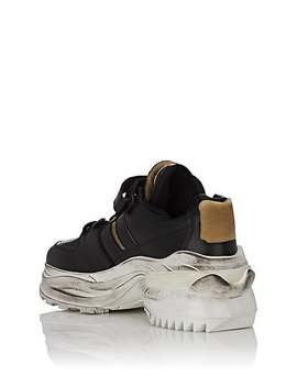 Men's Oversized Sole Leather Sneakers by Maison Margiela