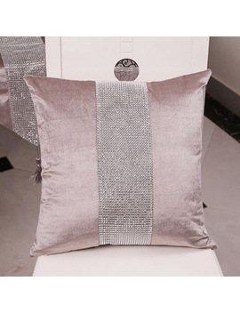 Decorative Pillow Case Flannel Diamond Patckwork Modern Simple Throw Cover Pillowcase Party Hotel Home Textile 45cm*45cm by Bit.Fly