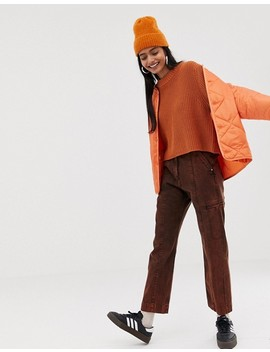 Weekday   Pull En Maille   Orange Foncé by Weekday