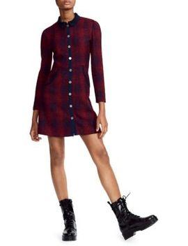 Tweed Shirt Dress by Maje