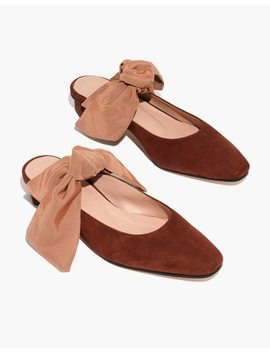 About Arianne Tina Suede Bow Mules by Madewell