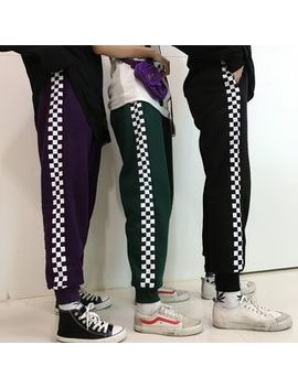 Genki Groove   Couple Matching Check Sweatpants by Genki Groove