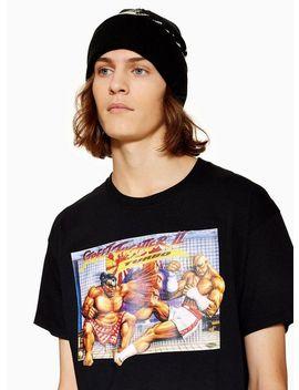 Black 'street Fighter' T Shirt by Topman