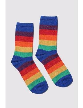 Lazy Oaf Glitter Rainbow Socks by Lazy Oaf